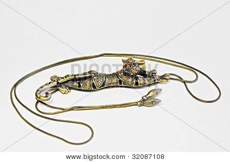 Pendant In The Form Of A Leopard.