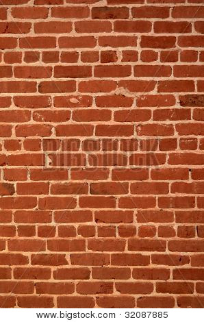 Background Texture Of A Red Brick Wall