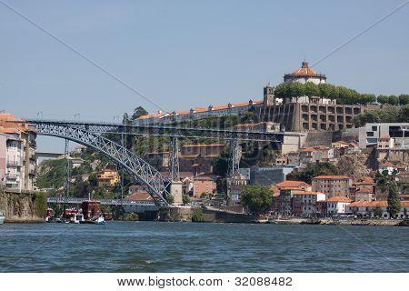 Douro River Between Porto And Gaia