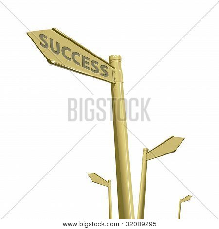 Success Way Isolate On White Background