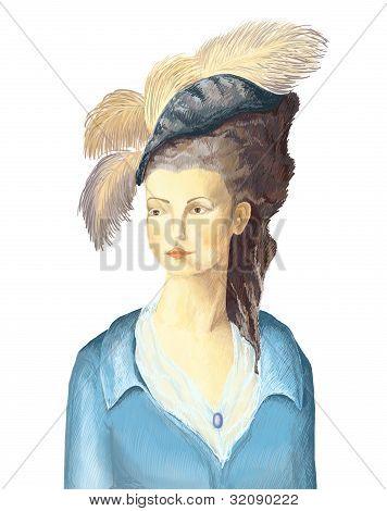 painted a portrait of a woman