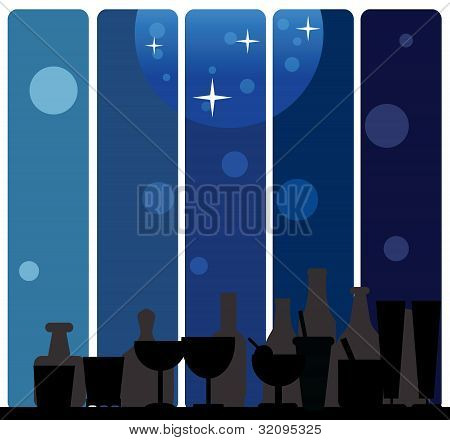 Glass Silhouettes Background