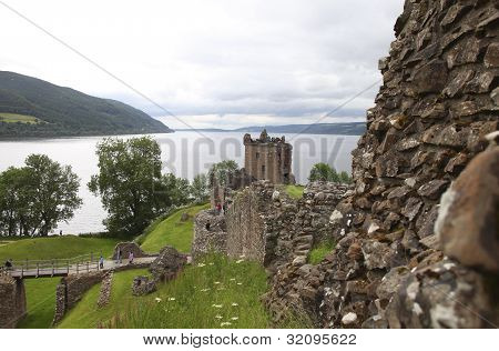Urqhart Castle At Loch Ness