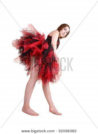 Girl Training For Ballet.