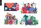 Set Of Medical Insurance Illustrations - Dental Care, Internship Jobs, Travel Insurance, Health Insu poster