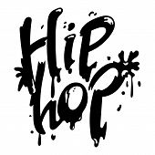 Hip Hop Icon. Simple Illustration Of Hip Hop Vector Icon For Web Design Isolated On White Background poster