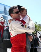 LOS ANGELES - APR 14:  Adam Carolla, son at the 2012 Toyota Pro/Celeb Race at Long Beach Grand Prix