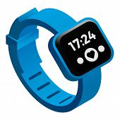 Heart Rate Fitness Tracker Icon. Isometric Of Heart Rate Fitness Tracker Vector Icon For Web Design  poster