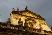 Salvator Church In Prague, Chezh Republic. Close Up poster