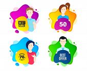 Best Offer. People Shape Offer Badge. Special Price Sale Sign. Advertising Discounts Symbol. Dynamic poster