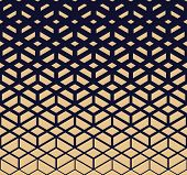 Abstract Geometric Pattern. Modern Vector Background. Gold And Dark Blue Halftone. Graphic Modern Pa poster