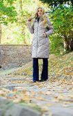 Must Have Fall Wardrobe. Feel Cozy And Warm This Autumn. Autumn Season Fashion. Girl Enjoy Autumn Wa poster