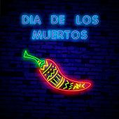 Super Hot Pepper- Neon Sign Vector. Super Hot Pepper - Badge In Neon Style On Brick Wall Background, poster