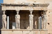 Porch Of The Caryatids, Athens poster