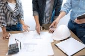 Group Of Engineer Or Architectural poster