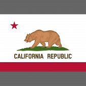 California State Flag 1953. Digital Reproduction. Grizzly Bear Flag. Vector. poster