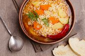 Thick Vegetable Soup With Pasta poster