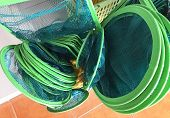 Various Size Of Landing Nets, Scoop Or Dip Nets Selling In Aquarium Shop. Used For Lifting And Sweep poster