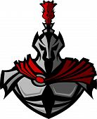 image of paladin  - Warrior Knight Vector Mascot  Wearing Armor and Helmet - JPG