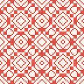 Vector Geometric Traditional Folk Ornament. Ethnic Tribal Seamless Pattern. Ornamental Background Wi poster