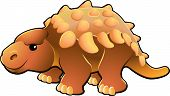image of ankylosaurus  - A vector illustration of a cute friendly dinosaur - JPG