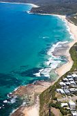 Burwood Beach And Merewether Aerial View Of The Amazing Coastline In Newcastle Nsw Australia. Newcas poster