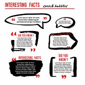 Interesting Facts Speech Bubble Icons. Fun Fact Idea Label. Banner For Business, Marketing And Adver poster