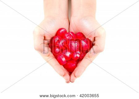 Love Candy In Feminine Hand