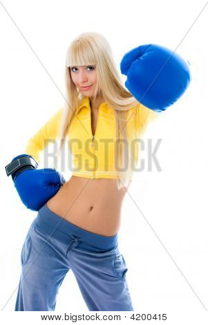 Beautiful Woman Wearing Bowing Gloves