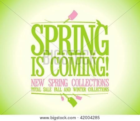 Spring is coming design template.