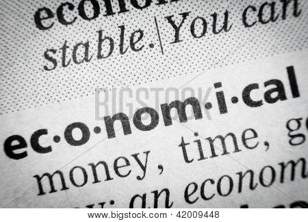 Word Economical In Glossary, Macro