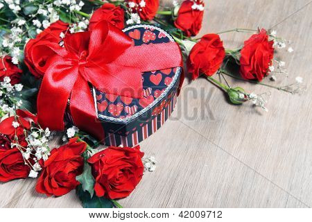 Valentine Gift And Roses