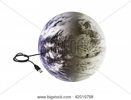 Earth With Usb Connection