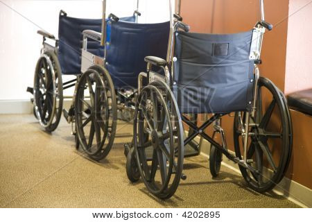Wheel Chairs Lined Up