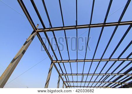 Steel Structure Framework Under The Blue Sky