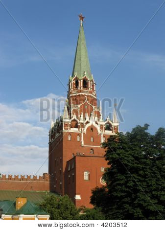 Borovitskaya Tower Of Moscow Kremlin