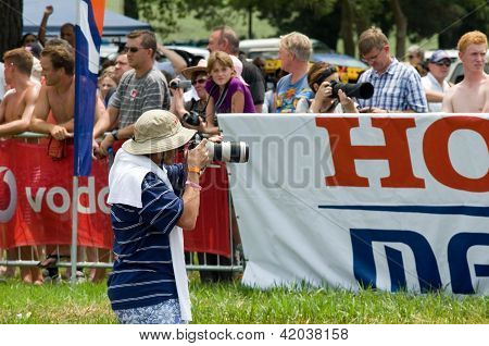 Photographer Or Photo Journalist Captures Images At The 2013 Midmar Mile Swimming Event, South Afric