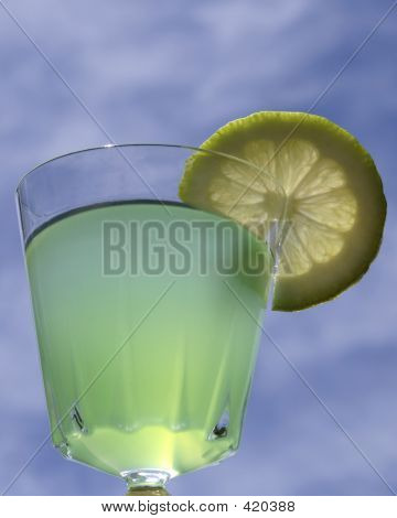 Aqua Cocktail On Blue Sky