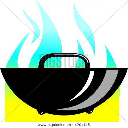 Metallic Fry Pan