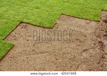 Partially Layed Turf
