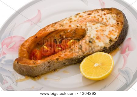 Salmon Baked In Mayonnaise