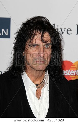LOS ANGELES - FEB 9:  Alice Cooper arrives at the Clive Davis 2013 Pre-GRAMMY Gala at the Beverly Hilton Hotel on February 9, 2013 in Beverly Hills, CA