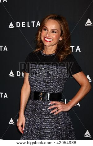 LOS ANGELES - FEB 7:  Giada De Laurentiis arrives at the Celebration of LA's Music Industry reception at the Getty House on February 7, 2013 in Los Angeles, CA