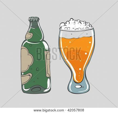 Beer - vector illustration