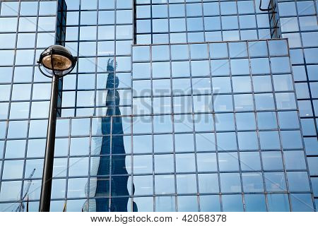 Reflection of the Shard building London