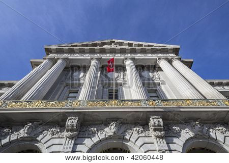 SAN FRANCISCO, CALIFORNIA - JAN 14:  Historic City Hall.  The city's Board of Supervisors unanimously approved a two year balanced budget for 2012-2014 on Jan 14, 2013 in San Francisco, CA.