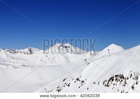 Ropeway On Ski Resort