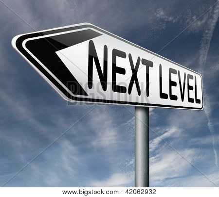 next level higher and more difficult levels game upgrade or newest software degree of difficulty