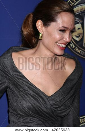 LOS ANGELES - FEB 10:  Angelina Jolie at the 2013 American Society of Cinematographers Awards at the Grand Ballroom, Hollywood & Highland on February 10, 2013 in Los Angeles, CA