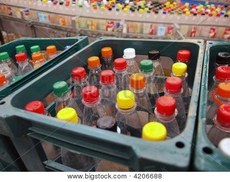 Reciclagem de garrafas de plástico